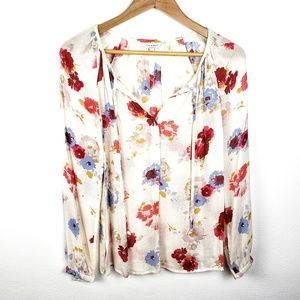 Lucky Brand | Floral Lightweight Long Slv Blouse